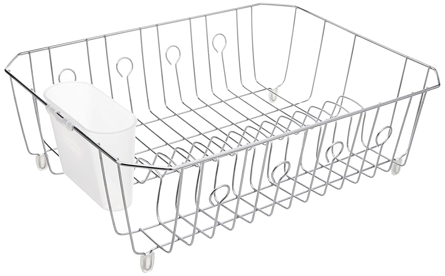 Rubbermaid AntiMicrobial In-Sink Dish Drainer, Bisque, Large (FG6032ARBISQU) RUBBERMAID INC -P