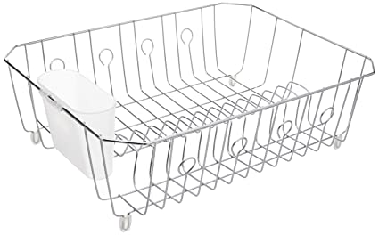 000a3fefe64 Image Unavailable. Image not available for. Color  Rubbermaid AntiMicrobial  In-Sink Dish Drainer ...