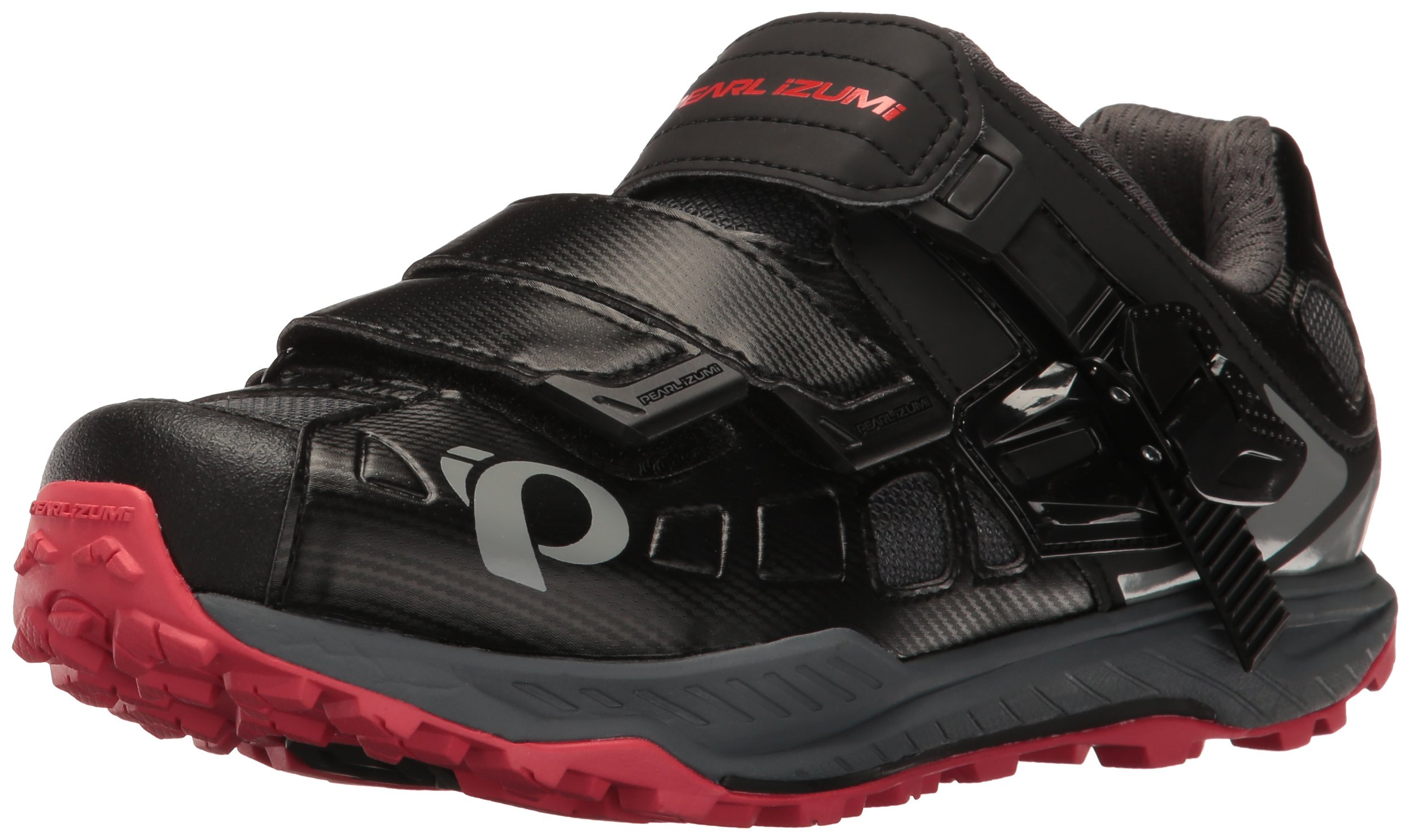 Pearl iZUMi Women's W X-Alp Enduro V5 Cycling Shoe, Black/Shadow Grey, 40 EU/8.4 B US