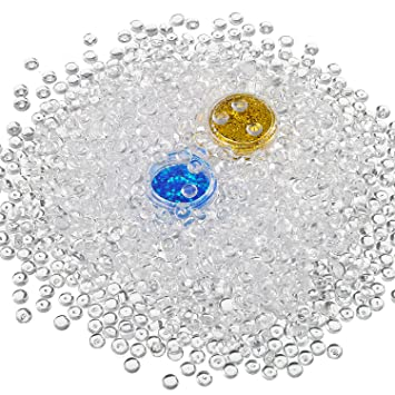 Shappy claro pecera de plástico perlas de perlas de cuentas y con purpurina para masilla slime, ...