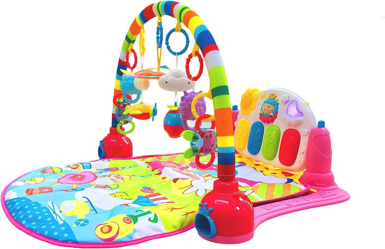 Jouet d'éveil Surreal 3en 1bébé piano tapis de jeu tapis de jeu musique et lumières