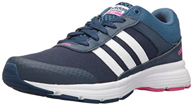 more photos d56cc 99289 adidas Women s Cloudfoam VS City W Running Shoe, Mystery Blue White Shock  Pink