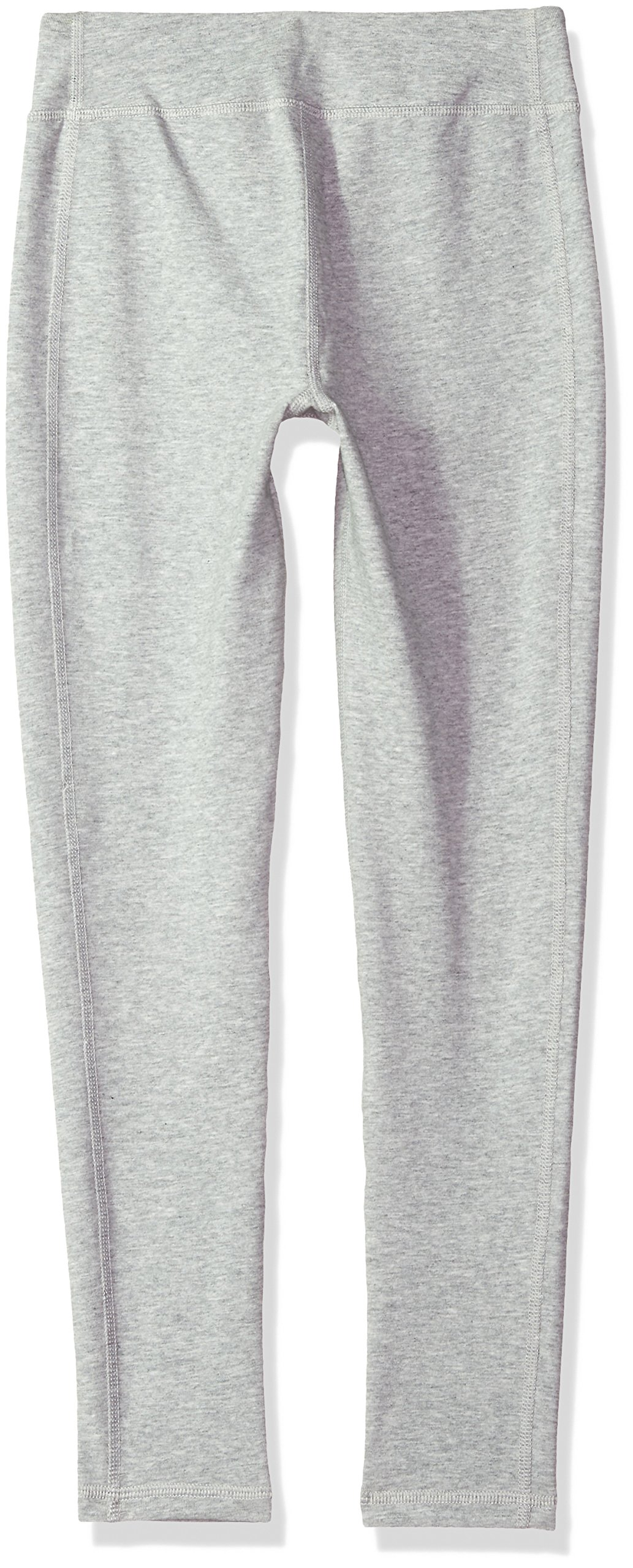 Under Armour Girls' Favorite Knit Leggings, True Gray Heather (025)/Penta Pink, Youth Large by Under Armour (Image #2)
