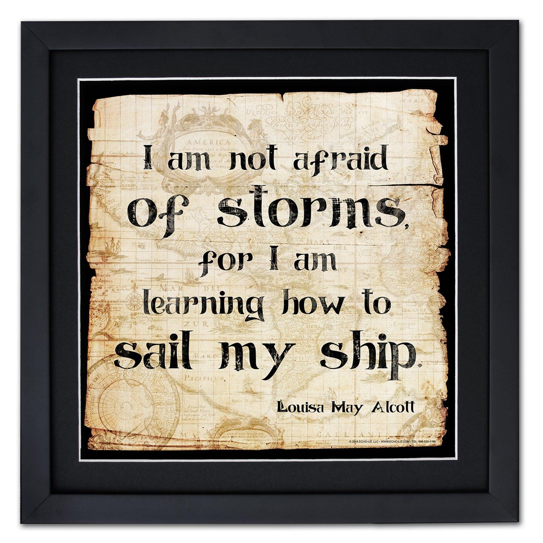 No miedo de las tormentas enmarcado Póster de motivación con una ...