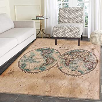 Amazon World Map Area Silky Smooth Rugs The In