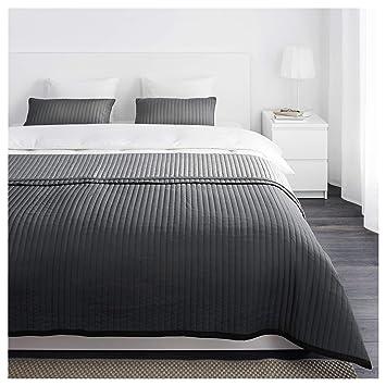 IKEA Karit   Couvre lit et 2 housses de coussin, gris   260x280