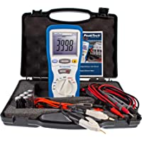 PeakTech P 2705 Digital milliohmmeter/ohm meter-400 m 40 Ω-with 4 Wire Kelvin terminals and multimeter