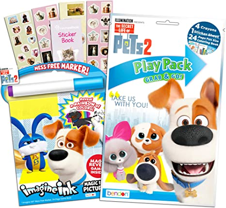 Secret Life of Pets Juego de Libros para Colorear – Libreta de ...