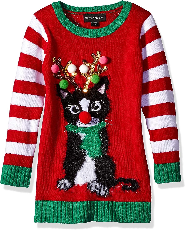 Blizzard Bay Girls Penguin Christmas Sweater Tunic