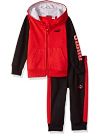 PUMA Baby-Boys Boys' Fleece Hoodie Set Hooded Sweatshirt