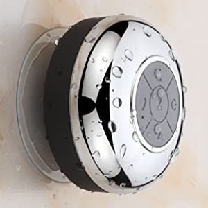 HotelSpa Chrome IPX4 Waterproof Bluetooth Shower Speaker