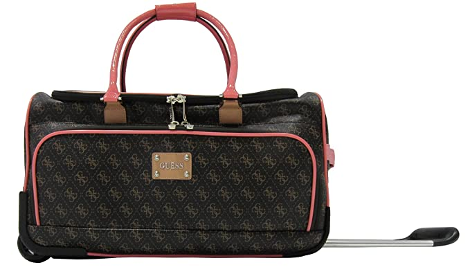 b468d48459 Image Unavailable. Image not available for. Colour  Guess Logo Affair 20  Inch Rolling Duffle ...