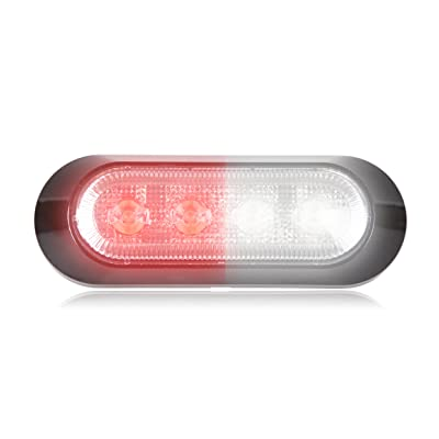 "Maxxima M20384RWCL 4 LED Red/White Ultra Thin 0.9"" Warning Strobe Light: Automotive"