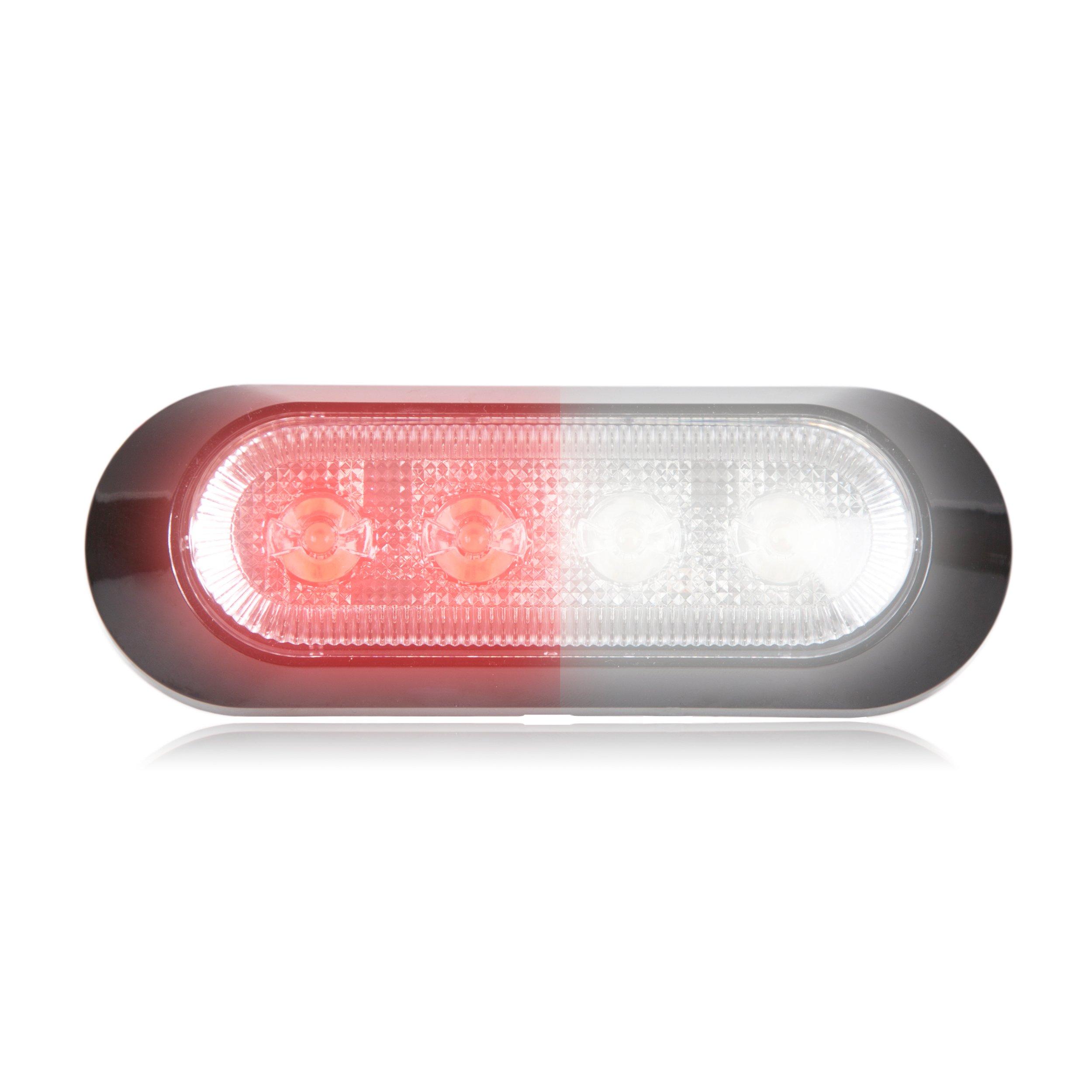 Maxxima M20384RWCL 4 LED Red/White Ultra Thin 0.9'' Warning Strobe Light