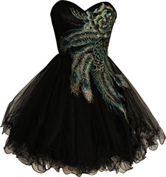 4b3df89303b01 Ouman Metallic Peacock Holiday Party Prom Dress Junior Plus Size 3XL Black