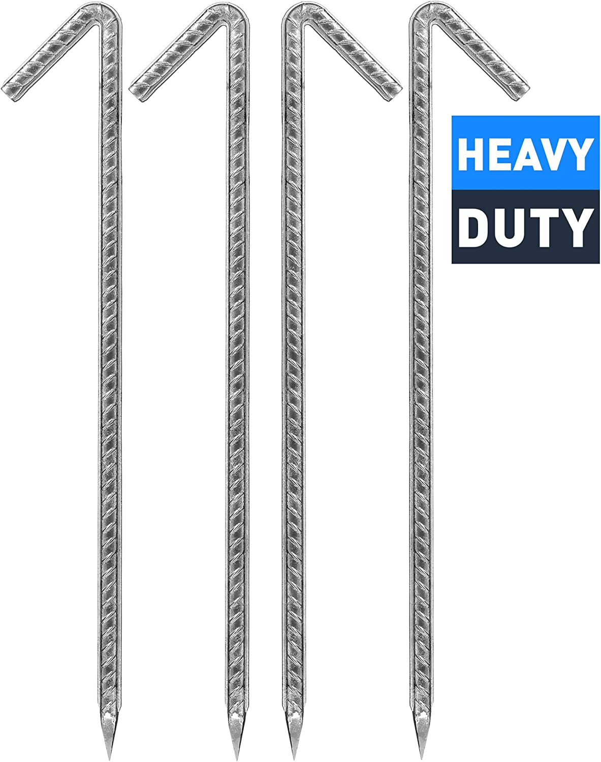 """20 X HEAVY DUTY GALVANISED 9/"""" STEEL TENT PEGS METAL CAMPING HIGH QUALITY NEW"""