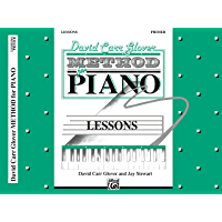 David Carr Glover Method for Piano: Lessons, Primer book cover