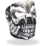 Hot Leathers Assassin Printed Neoprene Face Mask (Black)