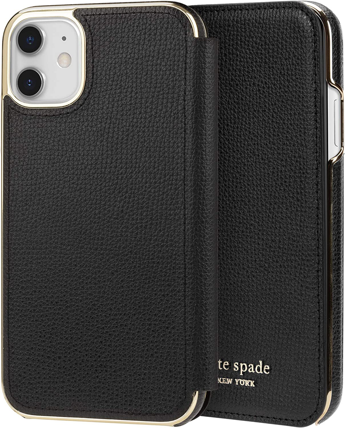 kate spade new york Black Folio Case for iPhone 11 - ID & Card Holder