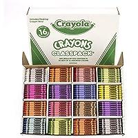 Crayola Classpack Assortment 800 Regular Size Crayons (16 Different Colors)