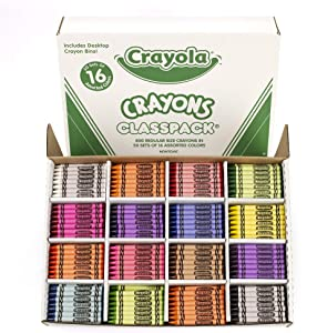 Crayola Crayon Classpack, School Supplies, 16 Colors (50 Each), 800 Ct