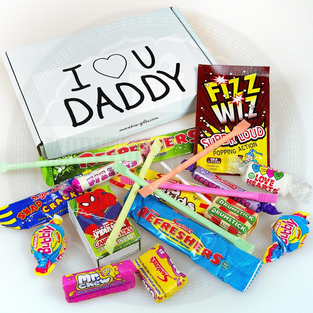 I Love You Daddy retro sweets box. Fits through the letterbox!