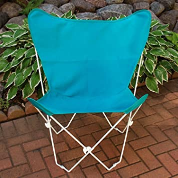 Superbe Teal Blue Replacement Cover For Retro Folding Butterfly Chair