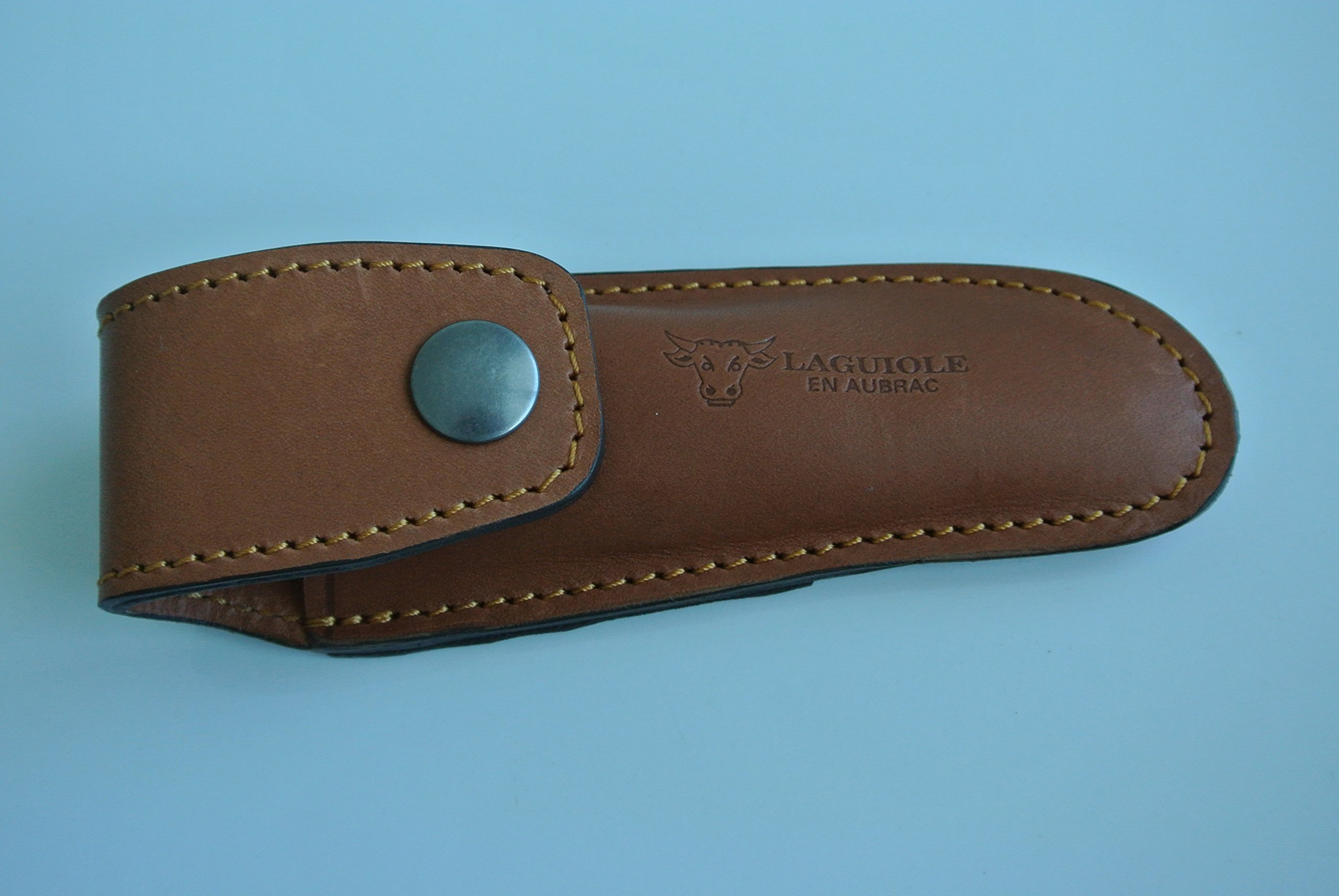 Laguiole en Aubrac Leather Holster For Folding Knife, ECD Brown