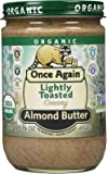 Once Again Organic Lightly Toasted Creamy Almond Butter 16 Oz