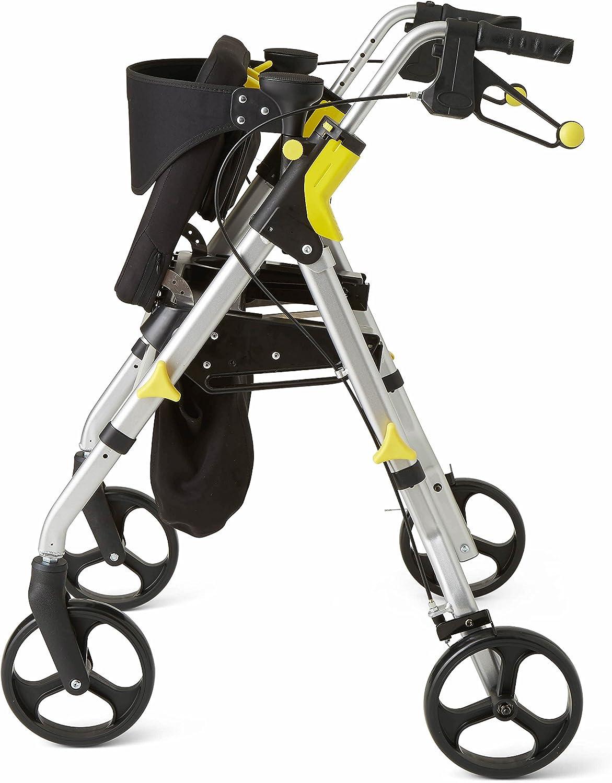 Amazon.com: Andadera rodable plegable con ruedas de 8 ...