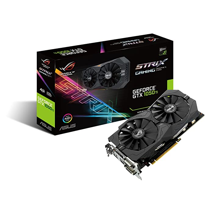 ASUS Geforce GTX 1050 Ti 4GB ROG Strix HDMI 2.0 DP 1.4 Gaming Graphics Card (STRIX-GTX1050TI-4G-GAMING) Graphic Cards