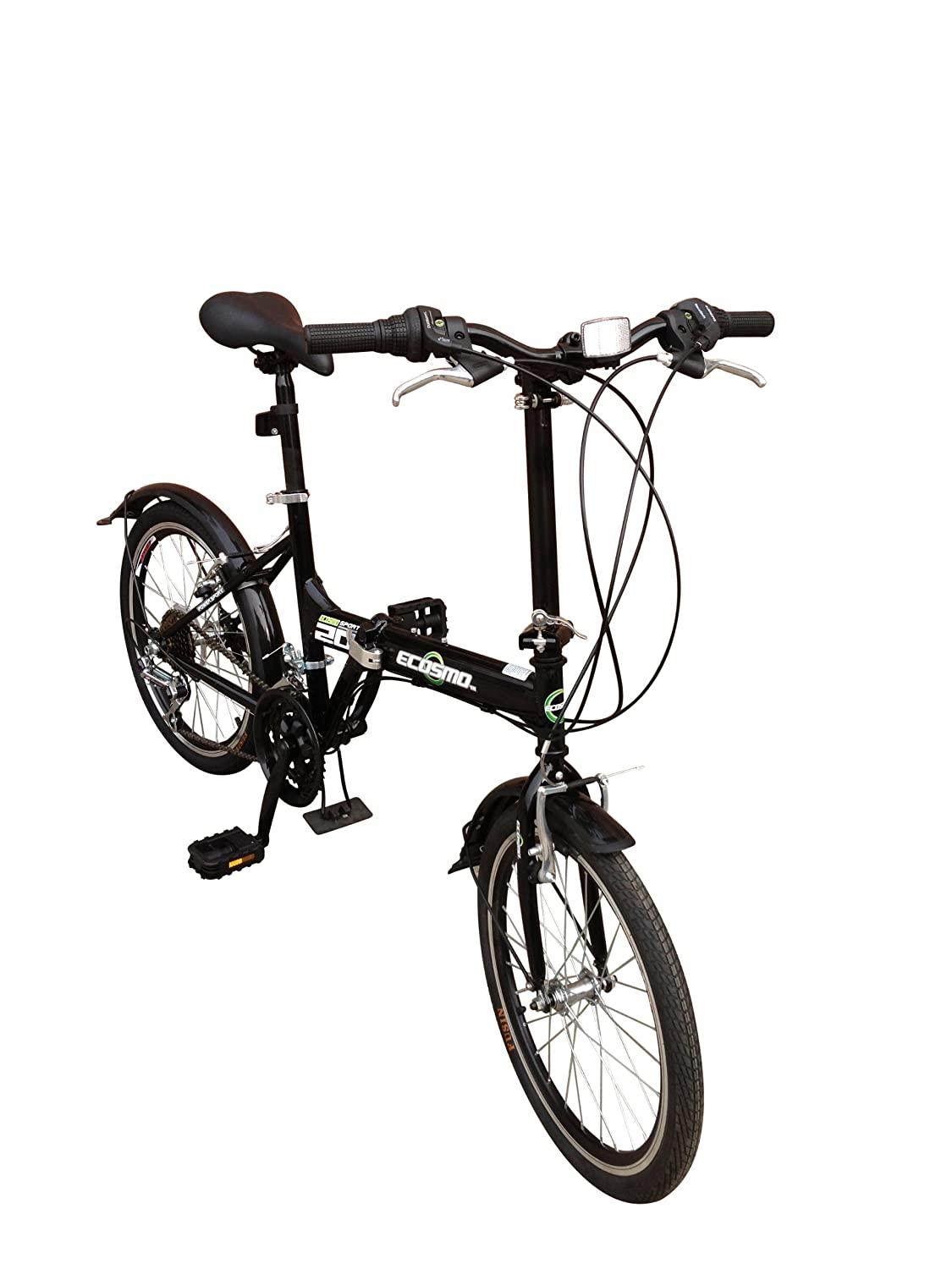Ecosmo 20 brand new folding city bicycle bike 21sp 20f03bl amazon co uk sports outdoors