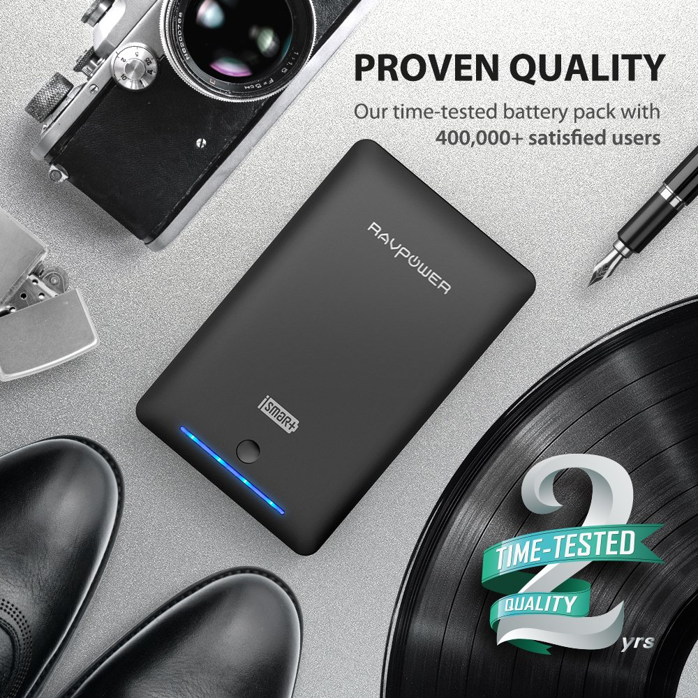 External Battery Pack Ravpower 16750mah Portable Charger Automatic Switching For 8211 Usb Power Connection Time Tested Phone With Dual 20 Ports Flashlight 45a Max Output Cell