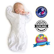 SwaddleDesigns Transitional Swaddle Sack with Arms Up, Bella Pink, Medium, 3-6MO, 14-21 lbs (Parents' Picks Award Winner)