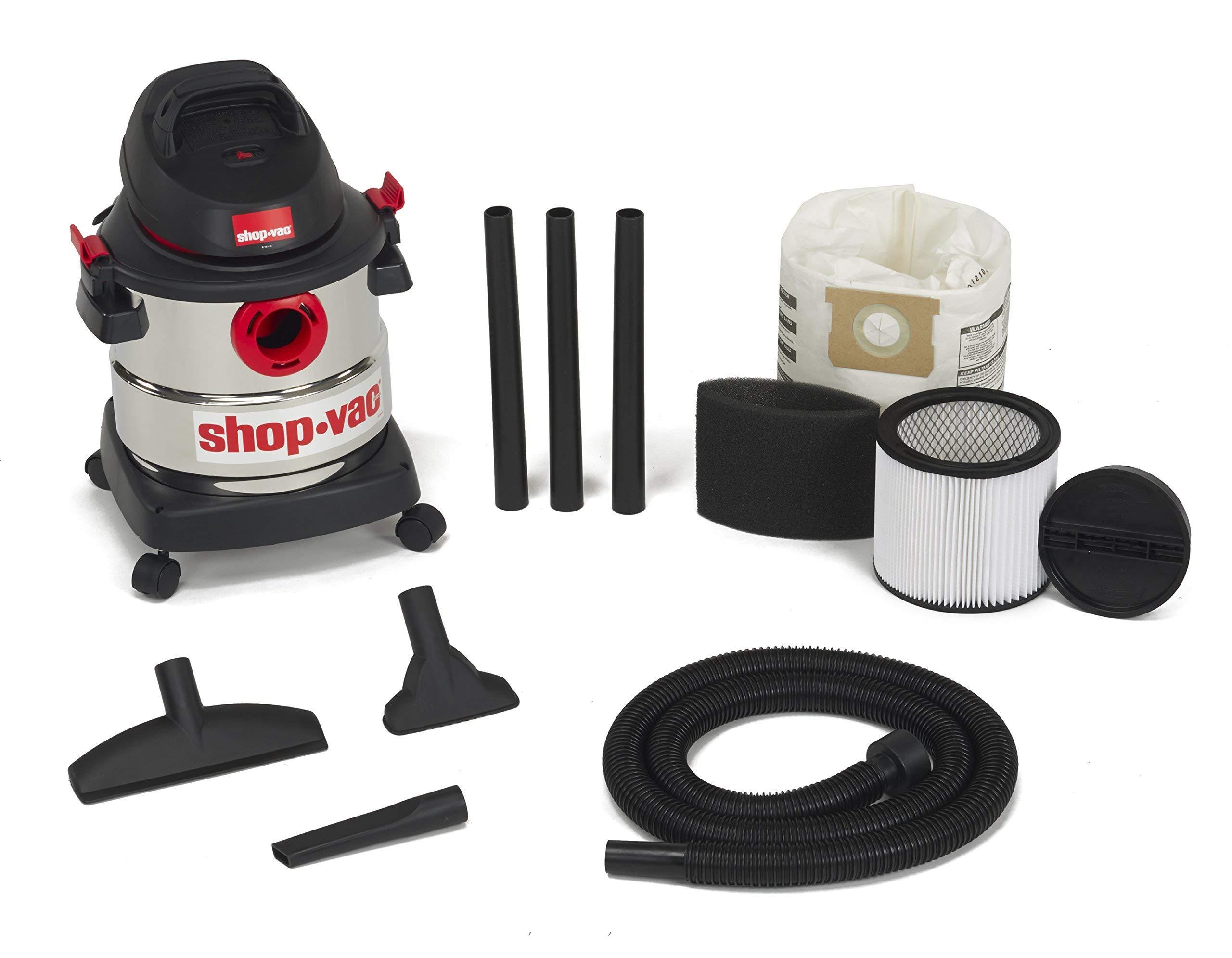 Shop-Vac 5989300 5-Gallon 4.5 Peak HP Stainless Steel Wet Dry Vacuum (Renewed) by Shop-Vac (Image #2)