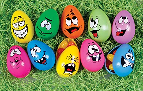 Easter Decorations Fillable Eggs Set Of 10 Crazy Funny Faces Decorations Amazon Canada