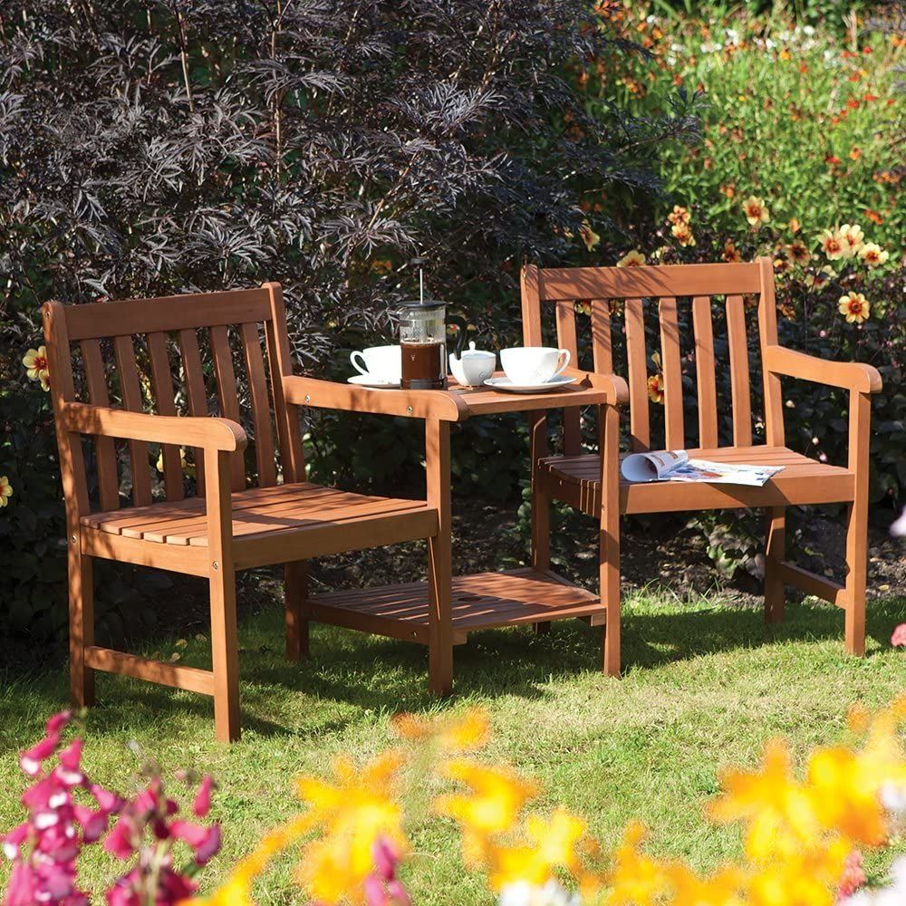 Rowlinson COMPHW1 Garden Set, Seating, Brown