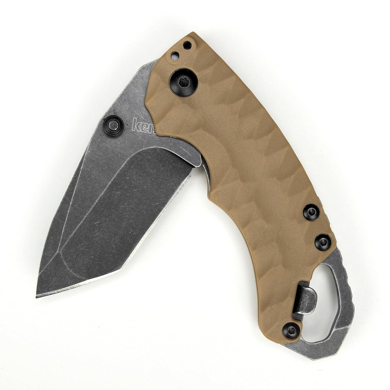 Kershaw KS8750TTANBW Cuchillo Tascabili,Unisex - Adulto, Negro, un tamaño