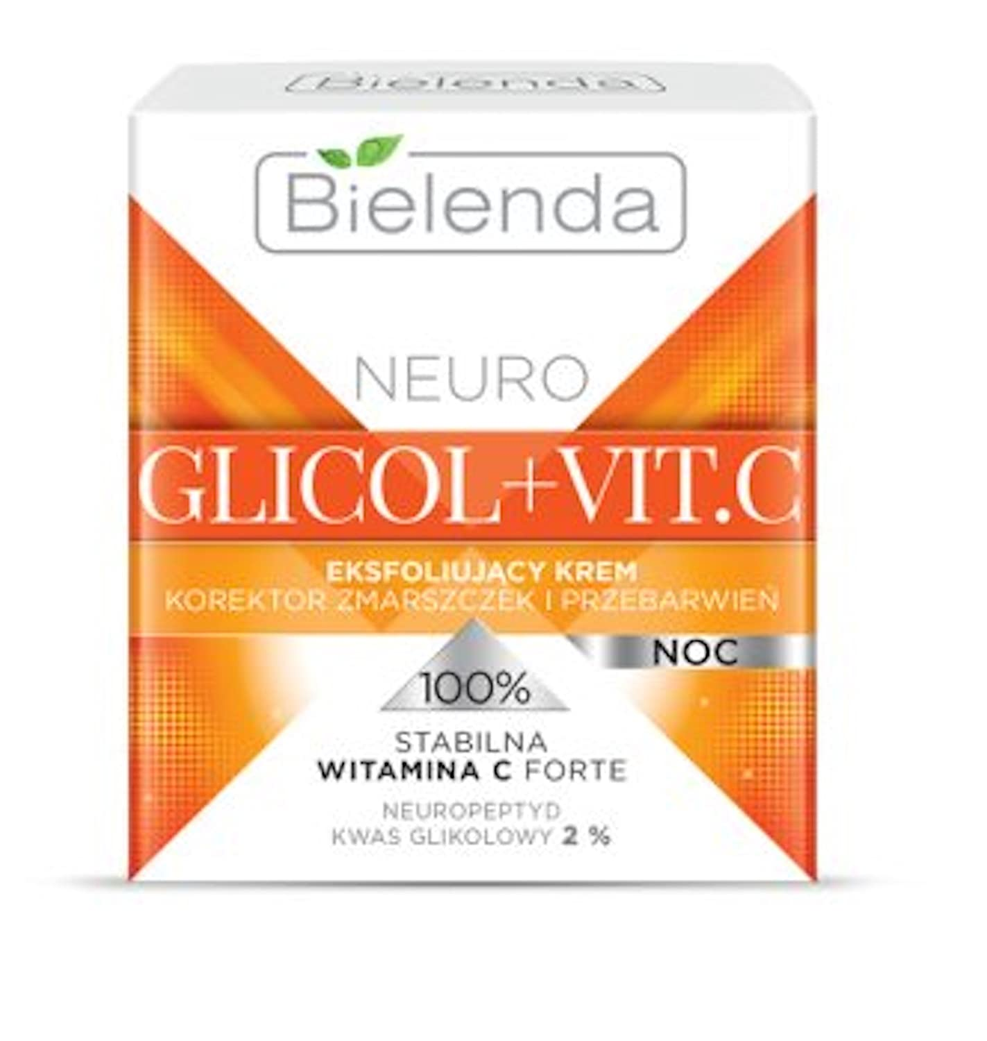 Bielenda GLYCOL+VIT.C Exfoliating Face Night Cream Glow and Youth Activator 50ml