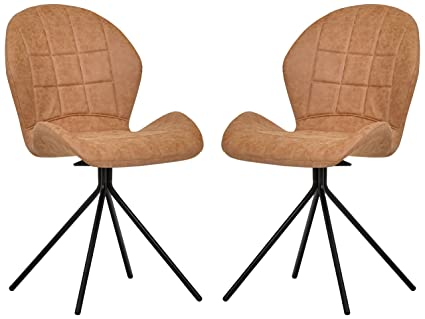 Strange Rivet Rachel Set Of 2 Space Age Mid Century Modern Swivel Dining Room Kitchen Desk Chairs 35 2 Inch Height Synthetic Leather Light Brown Inzonedesignstudio Interior Chair Design Inzonedesignstudiocom