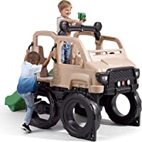 Step2 Safari Truck Climber | Large Outdoor Kids Climber Playset, Brown