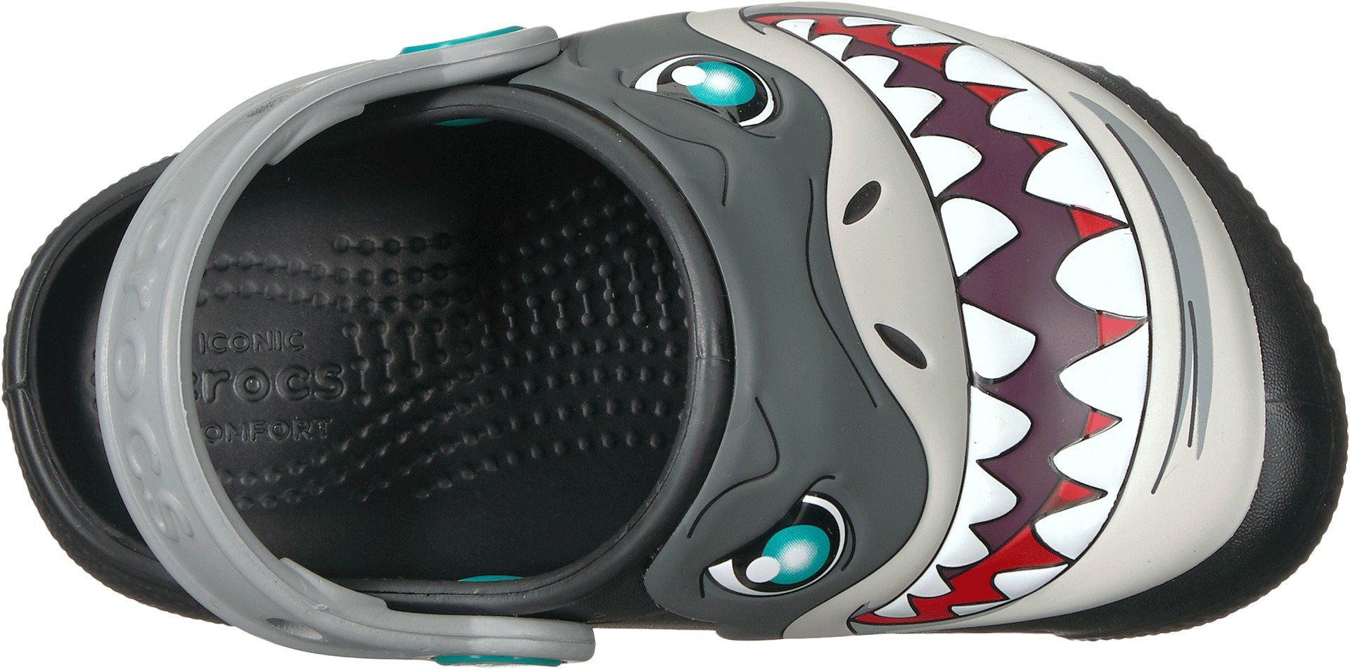 Crocs Unisex Fun Lab Lights Clog K, Black, 1 M US Little Kid by Crocs (Image #2)