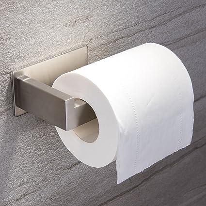 Porta Carta Igienica Acciaio.Ruicer Porta Carta Igienica Autoadesivo Senza Fori In Acciaio Inox Per Bagno