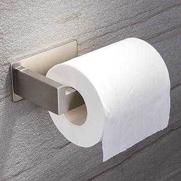 Ruicer Portarollos Papel Higienico Adhesivo Portarrollos Baño Sin Taladro Porta Papel Higienico de Acero Inoxidable Cepillado