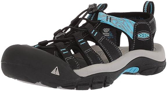 KEEN Women's Newport Hydro-W Sandal, Black/Norse Blue, 5 M US