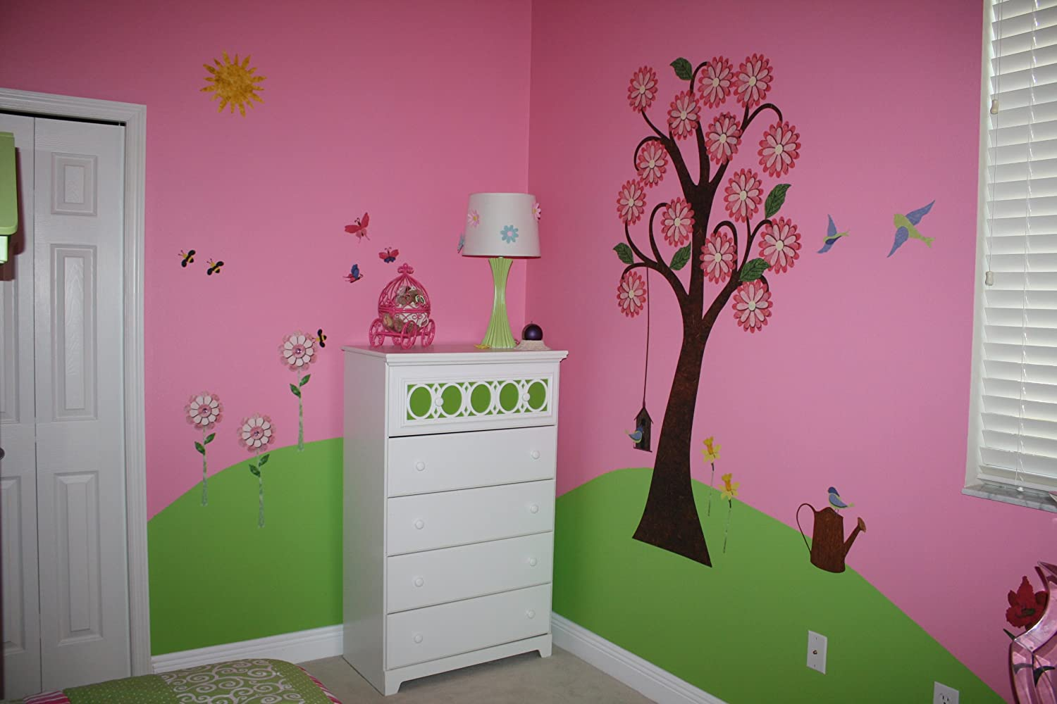 amazon com my wonderful walls repositionable and removable flower amazon com my wonderful walls repositionable and removable flower wall stickers for girls room multicolored home kitchen