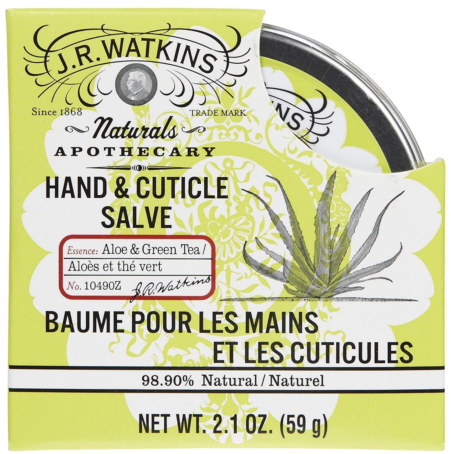 J. R. Watkins Hand and Cuticle Salve Aloe and Green Tea - 2.1 oz J R Watkins 10490