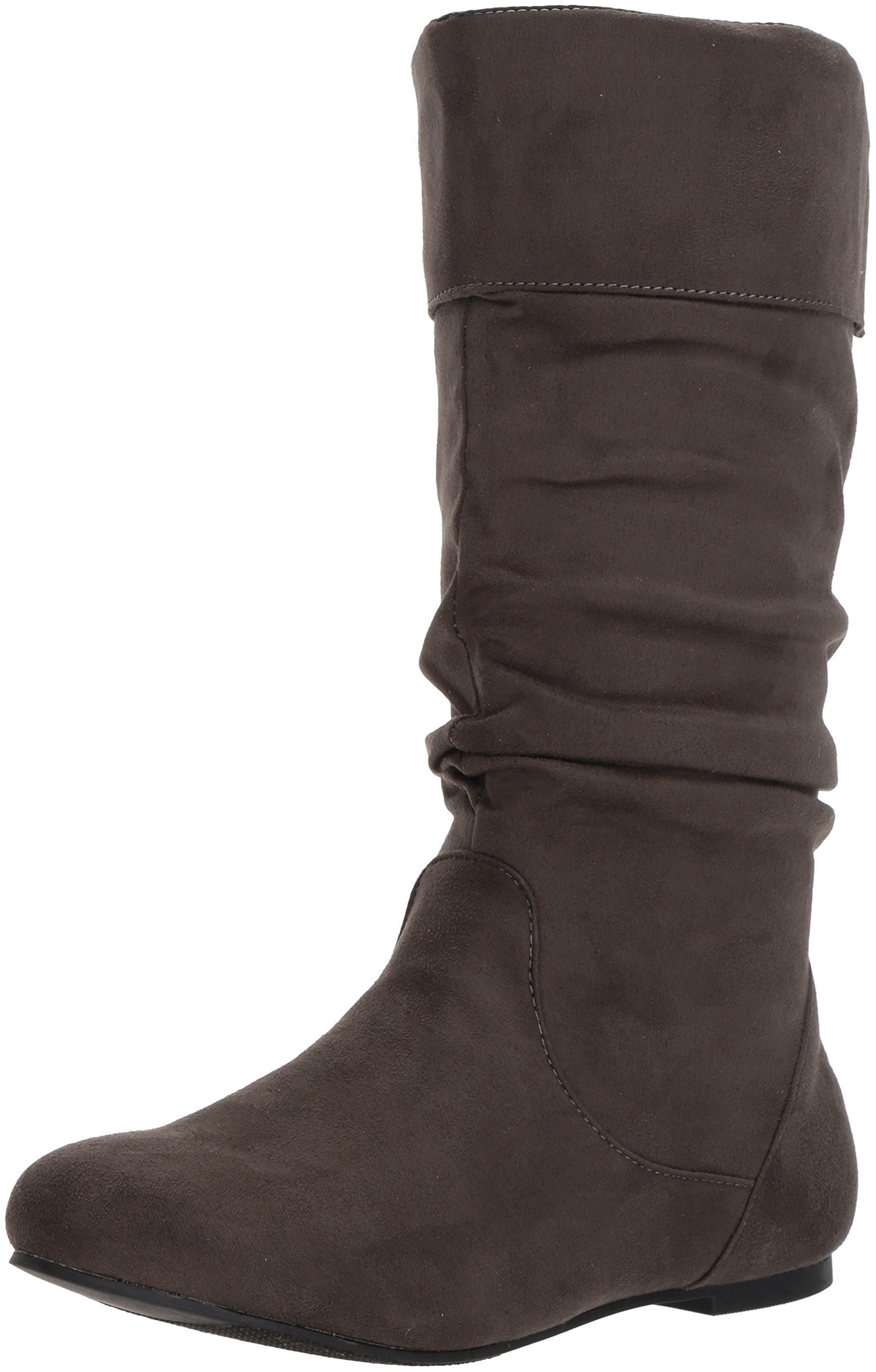 23488b539348 Brinley Co. Womens Regular Size and Wide-Calf Microsuede Slouch Mid ...
