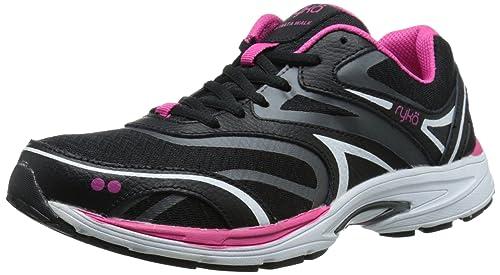 61248949b18dc RYKA Women's Strata Walk Walking Shoe, Black/Meteorite/Ryka Pink ...