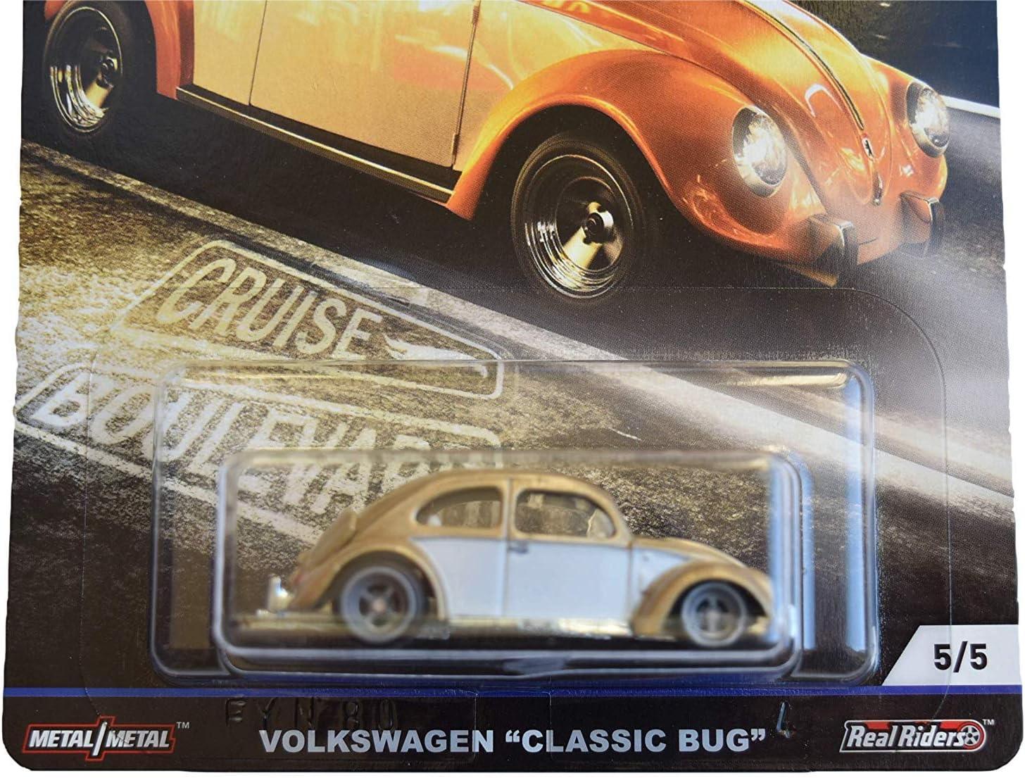 Gold//White Hot Wheels Car Culture Cruise Boulevard Volkswagen Classic Bug 5//5